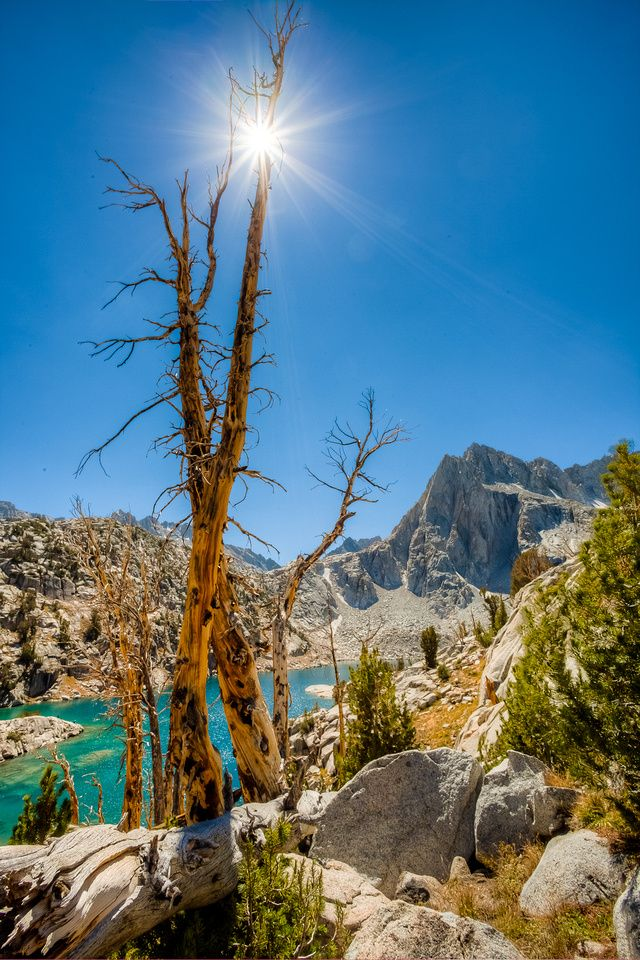 High Noon over Hungry Packer Lake, Sabrina Basin, California; photo by .Greg Clure