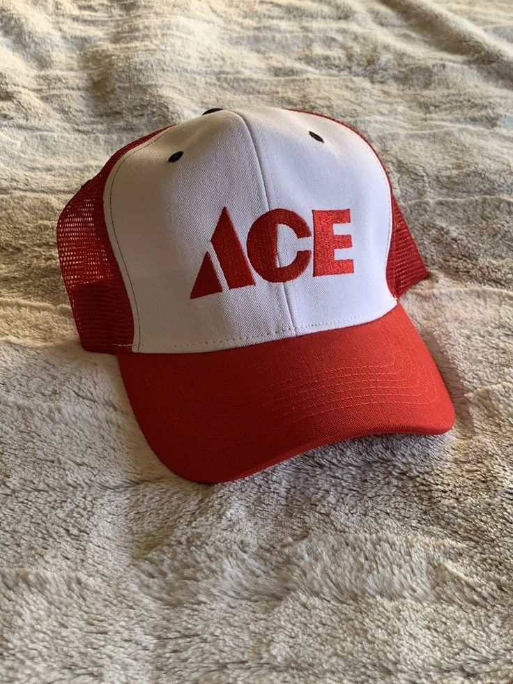 ACE HARDWARE Trucker's Snapback Red/white Vintage Hat