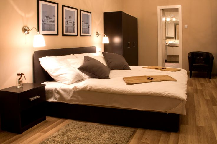 Superior Double Room - wooden floor, beige-brown style