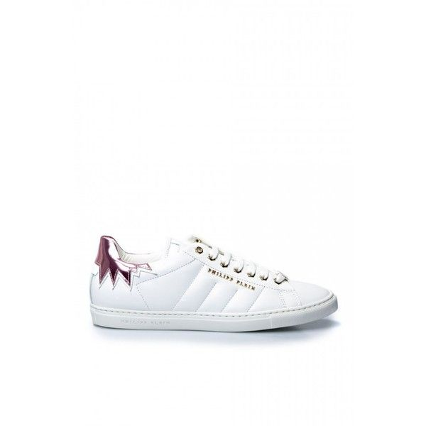 """Philipp Plein """"Spain"""" Sneakers (3,890 GTQ) ❤ liked on Polyvore featuring shoes, sneakers, philipp plein, laced shoes, rubber sole shoes, lace up sneakers and laced up shoes"""