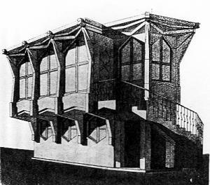 Josef Gočár, Villa Binka, 1907-1909  Bei diesem frühen Projekt handelt es sich um ein Jugendstilwerk Gocárs. 1913 fügte er dem Bau eine Veranda im kubistischen Stil an.