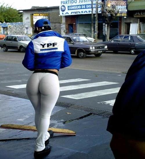 Wide big booty milf in dress pants