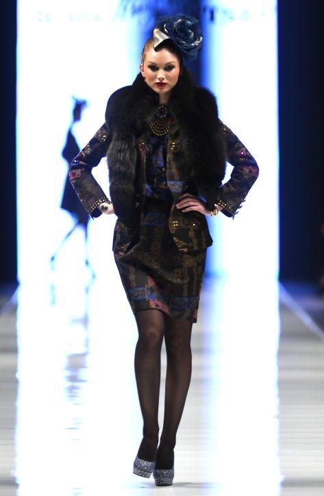 SLAVA ZAITSEV, Fall - Winter 2013 / 2014, Designer Avenue, 8. FashionPhilosophy Fashion Week Poland, fot. Przemek Stoppa #zaitsev #slavazaitsev #fashionweek #lodz #poland #fall2013 #winter2013 #fw13 #aw13 #designeravenue #fashioninspirations #trends #fashiondesigners #fashion #fashionweekpl #fashionweekpoland #fashionphilosophy