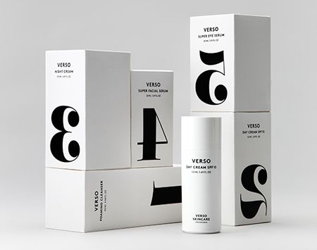 Verso skincare packaging