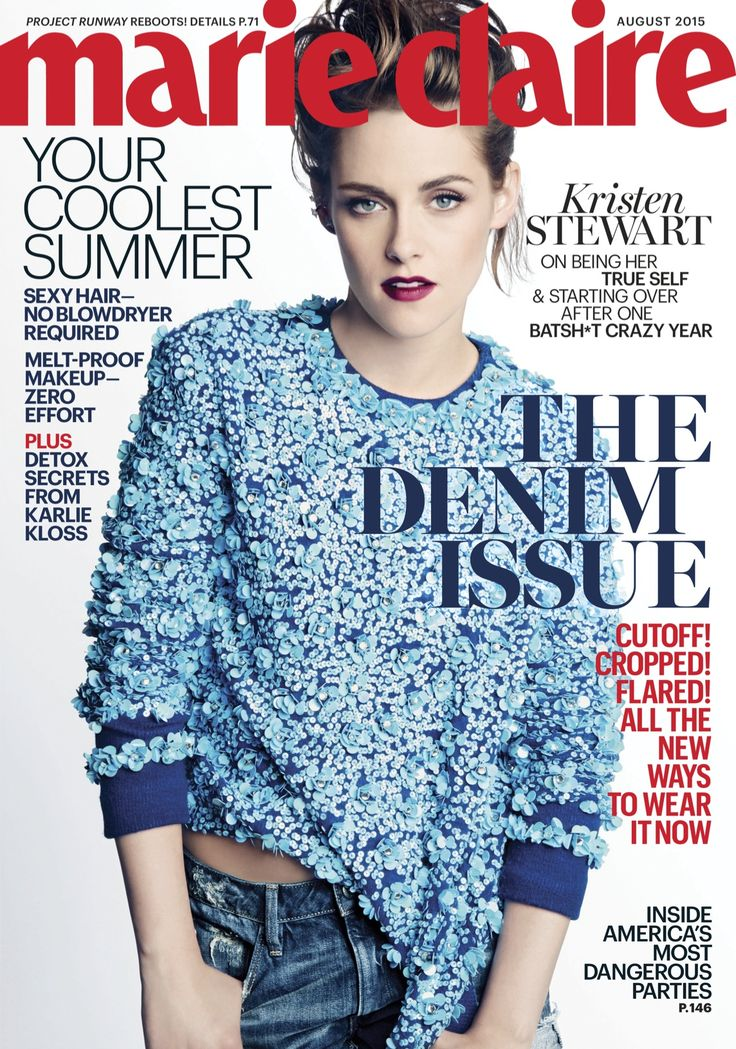 Kristen Stewart August 2015 Marie Claire Cover Interview