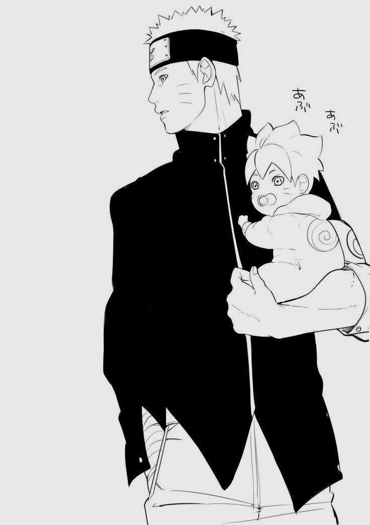 Father and son baby boruto and appa naruto