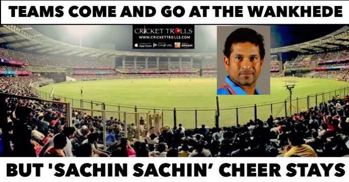 #WT20 #INDvsWI #TeamIndia #ICCT20WC #T20WorldCup #SachinTendulkar #cricket   Sachin Tendulkar is cheered by cricket lovers at Wankhede stadium   http://www.crickettrolls.com/2016/03/31/sachin-sachin-cheer-by-fans-at-wankhede-stadium/