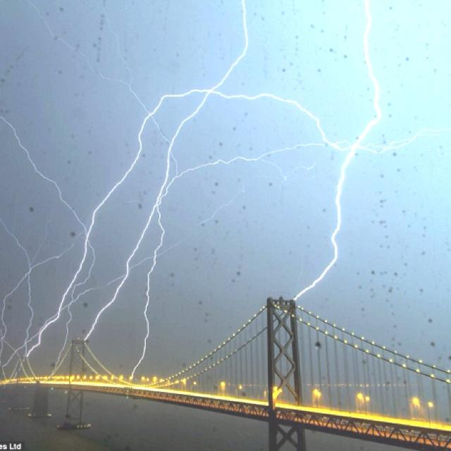 San Francisco thunder storm.