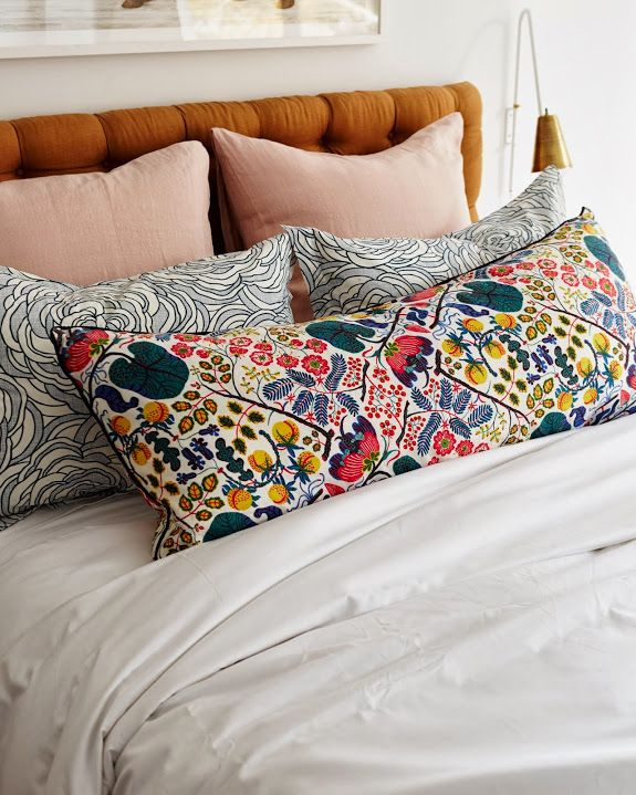 A CUP OF JO: Home makeover: Master bedroom- headboard & pillow