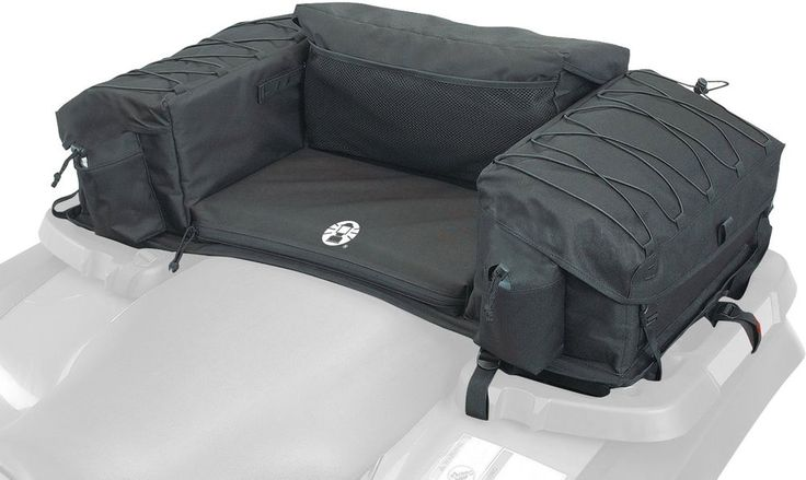 ATV Rear Storage Bag Padded Bottom Extra Large Seat Rack Cargo Luggage Black New #Coleman