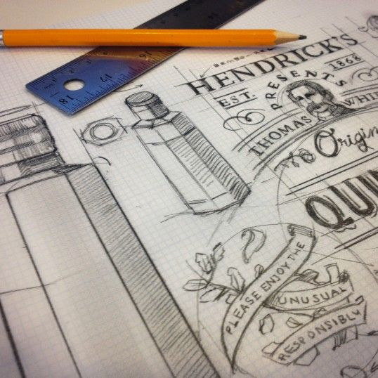 Hendricks Quinetum - great to see sketch work to accompany the design
