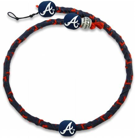 MLB Team Color Frozen Rope Baseball Necklace - Atlanta Braves  http://allstarsportsfan.com/product/mlb-team-color-frozen-rope-baseball-necklace/?attribute_pa_color=atlanta-braves  Adjustable Clasp Made from Genuine Leather Officially Licensed