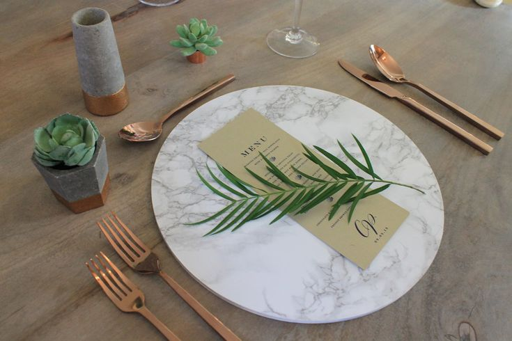 Modern Wedding Decor - Marble Charger Plates!