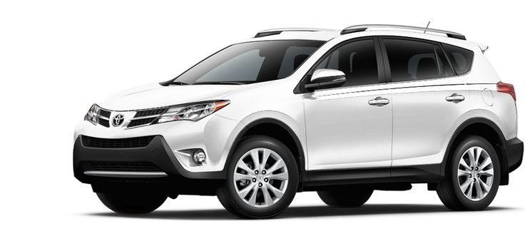 Toyota Rav4 Limited In Pearl White This And An Acura