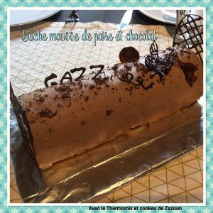 Bûche poire mousse chocolat Recette sans robot, ou , companion, i Cook in, cook expert..