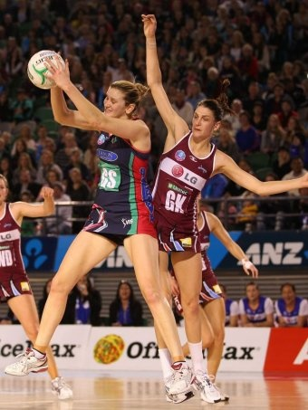 Melbourne Vixens are the first team to qualify for the trans-Tasman netball grand final after defeating the Northern Mystics 56-50 at Rod Laver Arena.