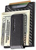 Secure, Slim Carbon Fiber Money Clip Wallet, RFID EDC Card Holder by Urban Tribe   MINIMALIST and SLIM – holds up to 5 cards and 15 bills in a front pocket. Very lightweight. Perfect solution for those looking to reduce what they carry daily FUNCTIONAL and SAFE – wears light and thin...