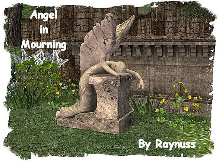 Mittelalterlich, Engel, Statue, Kirche, Gartenarbeit, Imaginären Freunden,  Skulptur, Im Freien, Sims 2