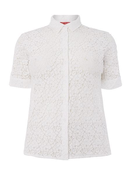 Battello Shirt with lace detail  Battello Shirt with lace detail