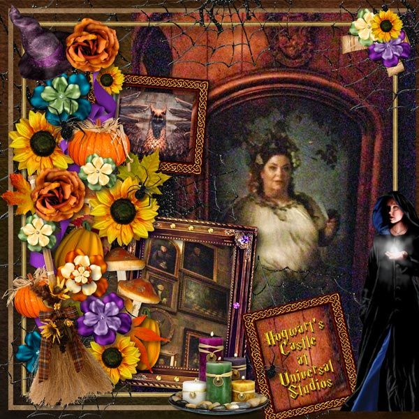Inside Hogwart's Castle by Tbear. Kit used: All Souls Night http://scrapbird.com/-c-83/halloween-sale-c-83_566/all-souls-night-p-16969.html