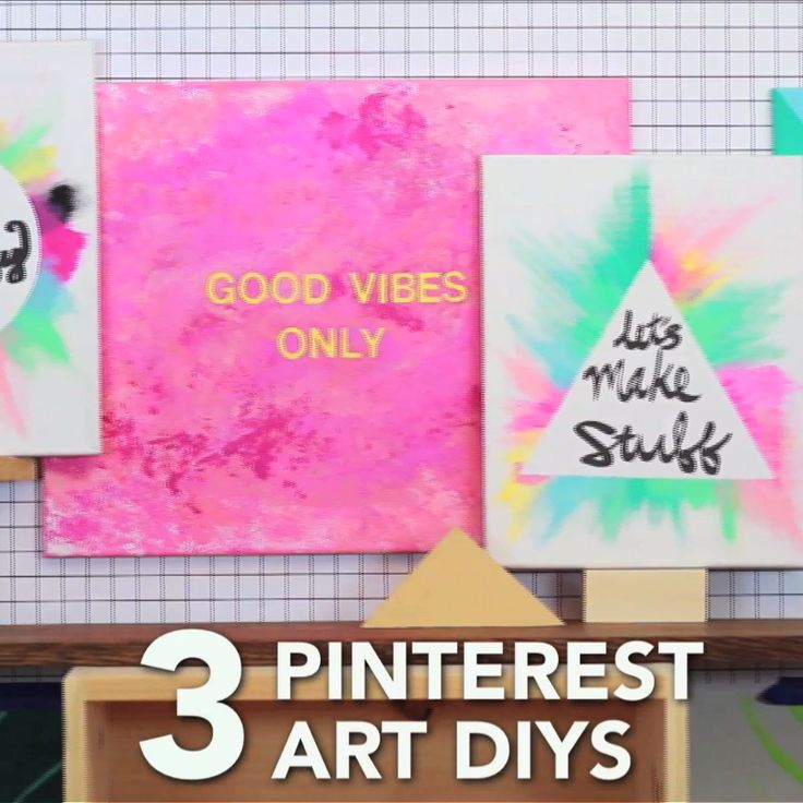 3 Pinterest Art DIYs Drawing On CanvasDiy Paintings CanvasCute