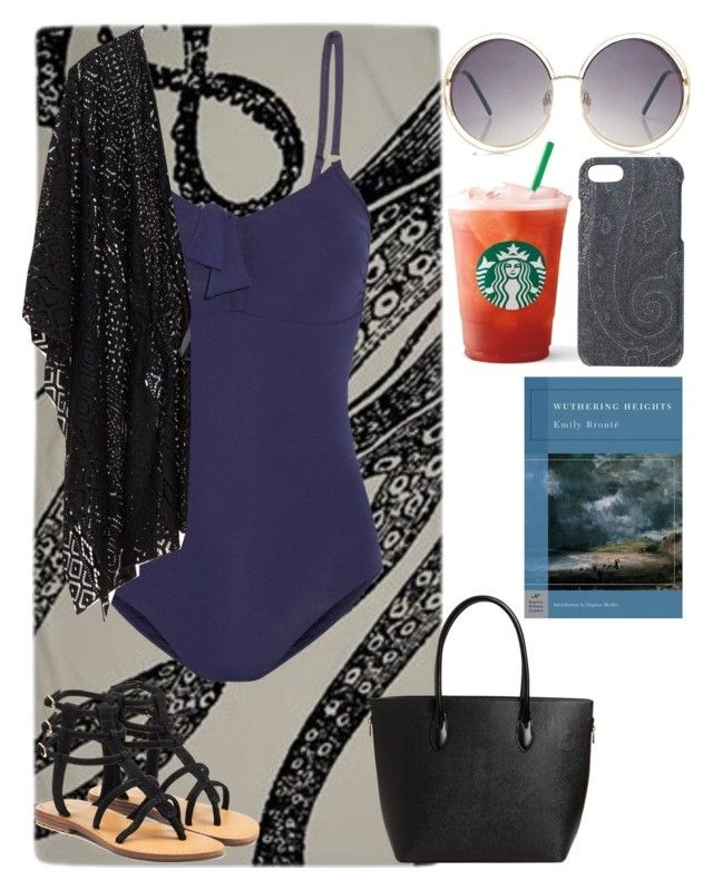 """Pretty Soldier Sailor Moon Dark Kingdom Beach Day: Purple DD Girl"" by plum-and-peaches ❤ liked on Polyvore featuring Boohoo, Melissa Odabash, Mystique and Etro"