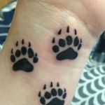 Bear Paw Tattoo Designs on Wrist