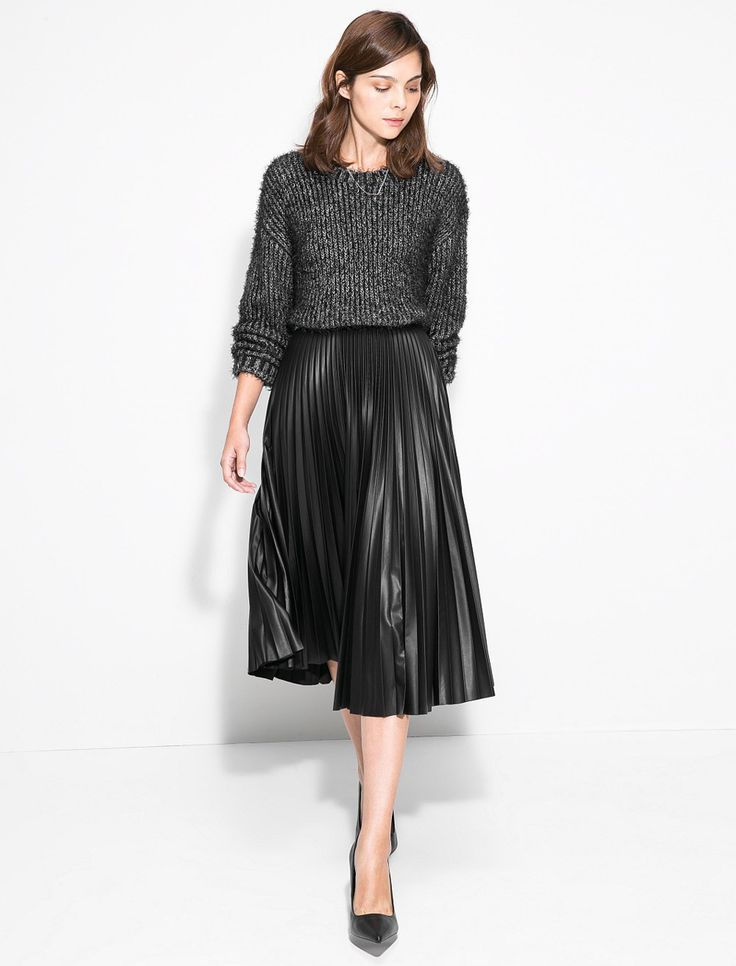 Vintage-Women-Pleated-Skirt-2015-Pre-Fall-Women-Midi-Skirts-Fashion-Jupe-Taille-Haute-2015-Ropa.jpg 939×1,233 pixels