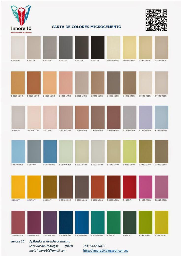 Decoracion con microcemento carta de colores carta de - Colores de microcemento ...
