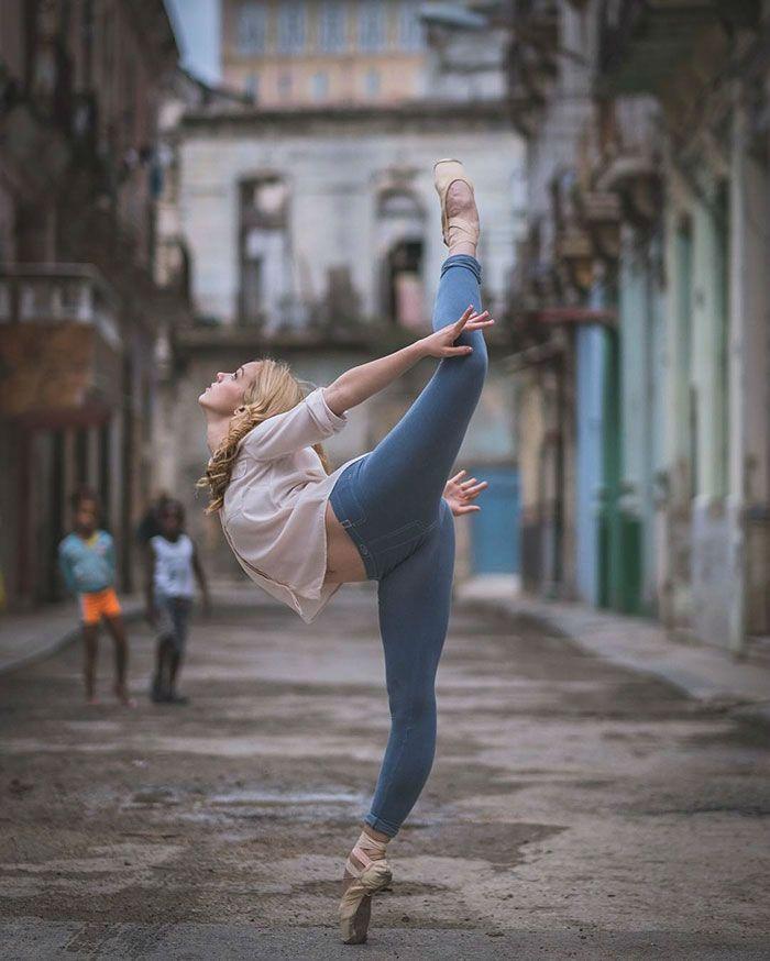 Atemberaubende Balletttänzer auf den Straßen von Kuba - Neue Haar-Designs
