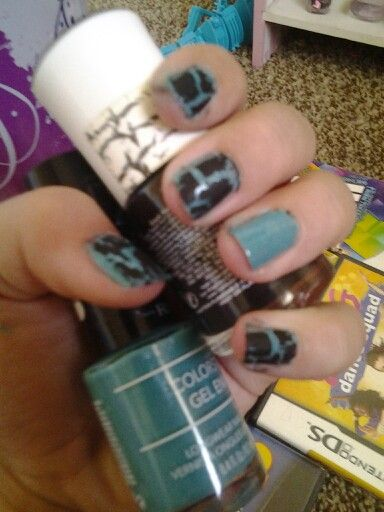 Love this design with crackle
