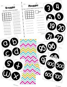 Boggle and Noggle Bulletin Board Set with Recording Sheets