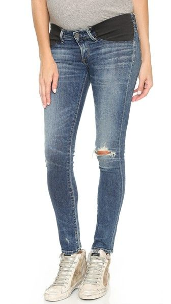 These look comfy and I kind of just want to buy them as everyday pants even though I not pregnant. Lol Citizens of Humanity Racer Ultra Maternity Skinny Jeans