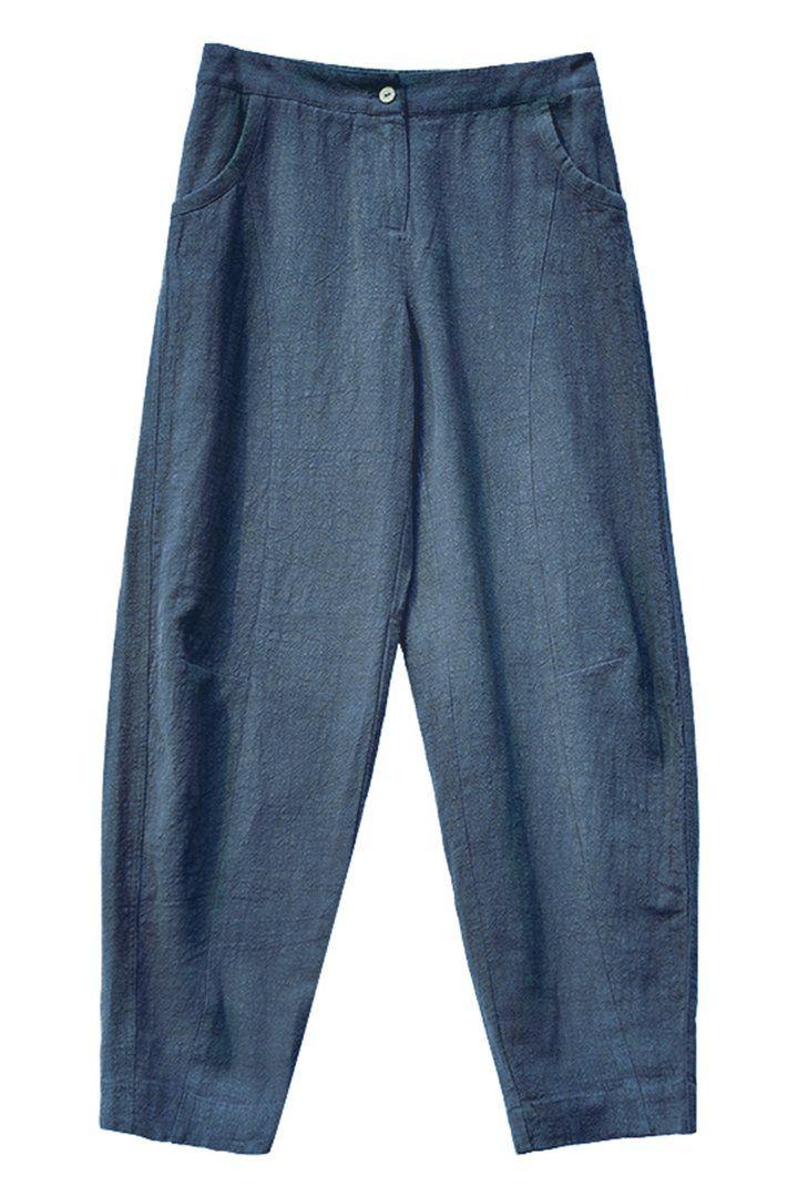 Women Casual Pencil Pants Linen Trousers K7055 | Bukser