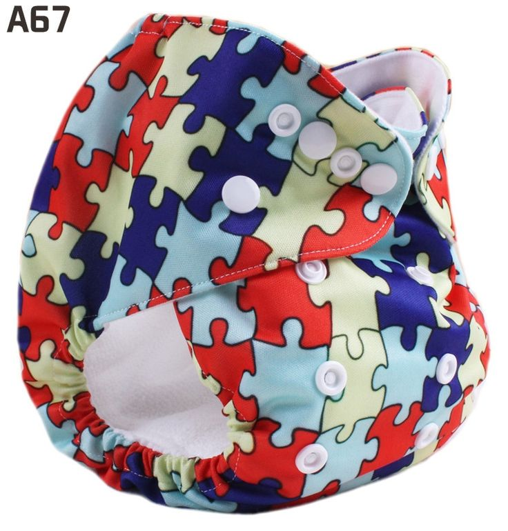 Multicolor irregular shapes Happy Flute Baby Printed Cloth Diapers US$6.8
