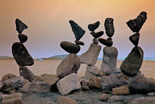 Another example of rock balancing, however this one uses more varied sizes and shapes to balance. And again the sort of thing I want to randomly appear around my world.