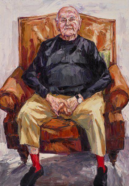 Nicholas Harding: John Olsen AO, OBE :: Archibald Prize 2017 :: Art Gallery NSW