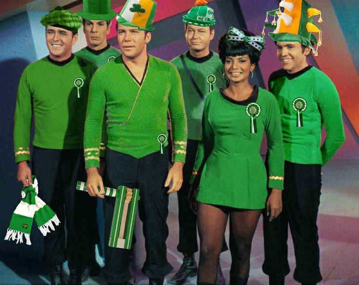 Warp factor 10! Hail Hail from the bhoys and ghirls of the Starship Enterprise CSC.