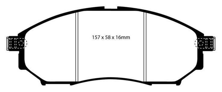 EBC 2008-2012 Nissan Pathfinder/ 2014-2015 Infiniti QX70 QX50/ 2006-2008 Infiniti FX45/ 2006-2012 Infiniti FX35 Greenstuff Front Brake Pads