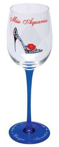 Santa Barbara Design Studio Christopher Vine Design Miss Zodiac Collection Wine Glass with Rhinestones, Miss Aquarius by Santa Barbara Design Studio Kitchen. $23.37. Christopher vine design miss zodiac collection wine glass with colored long stem, character traits and rhinestone accents. A hip new take on the signs of the zodiac; stylish, sophisticated and oh so much fun!. 15-Ounce capacity; gentle hand washing recommended. Every glass comes in a sophisticated, coordinat...