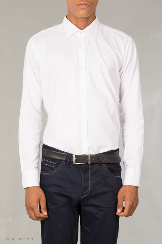 Lorenore White Oxford Shirt. http://shugakane.com.ng/shop/lorenore/lorenore-white-oxford-shirt/