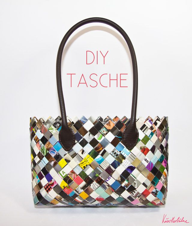 Make your own bags from magazines