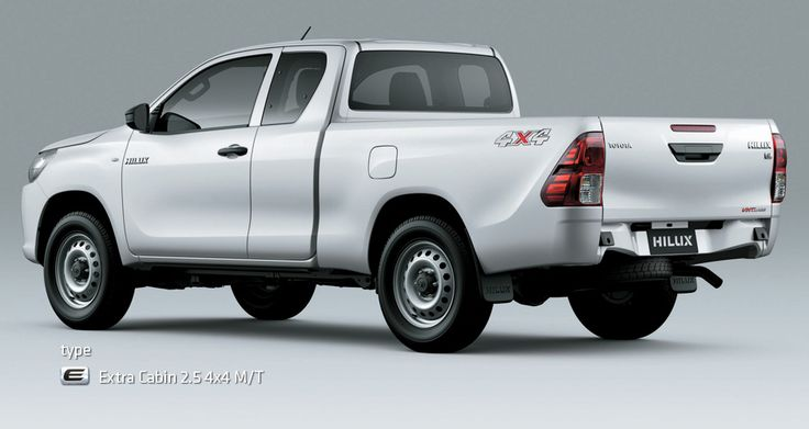 All New Hilux S Cab - Mobil Niaga Terbaik - AUTO2000 - Type E Side Back View - White
