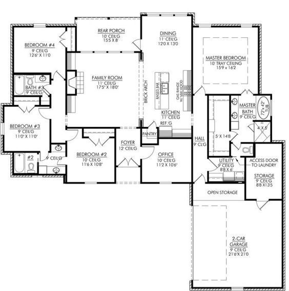 200 best images about home floor plans on pinterest for 28x32 floor plan