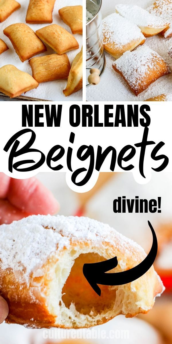 How To Make Beignets New Orleans Style Cultured Table Recipe Beignet Recipe Fun Baking Recipes Food