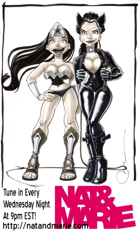 Probably the most awesome thing anyone's done for us. Nat as Wonder Woman and Me (Marie) as Catwoman. Check out Wapsisquare.com and give Paul some props for his badass webcomic. Also immortalized in art? Lisa Charleyboy (AKA - Urban Native Girl) You like?