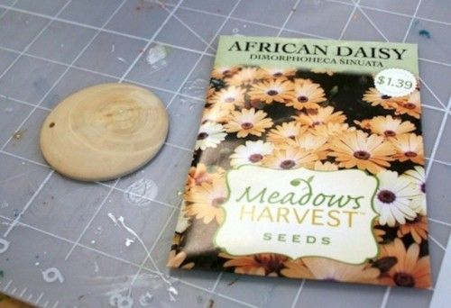 Цветочный кулон из пакетика от семян (Diy) / Украшения и бижутерия / ВТОРАЯ УЛИЦА