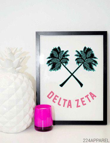 Palm Tree Smile Delta Zeta
