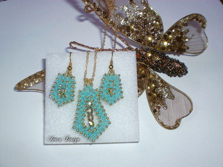 Turquise Craw  beading set Buy my jewelry on: https://porteka.com/hu/ivica My facebook site: https://www.facebook.com/IvicaDesign/?ref=bookmarks  Buy my jewellry on: https://porteka.com/hu/ivica