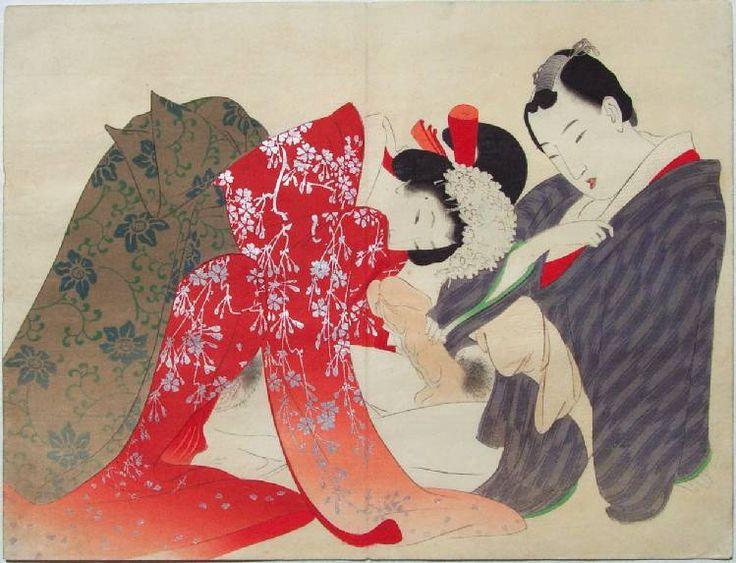 Geisha in orange/silver kimono